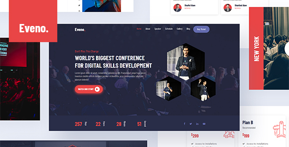 Eveno - Event & Meetup Conference Template 1