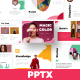 Colorful A4 Modern Minimal Powerpoint - GraphicRiver Item for Sale