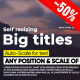Self-Resizing Big Titles II - VideoHive Item for Sale