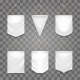 Blank White Pennant Set - GraphicRiver Item for Sale
