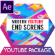 Modern Youtube End Screens - VideoHive Item for Sale