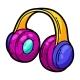 Illustration of Cartoon Musical Headphones - GraphicRiver Item for Sale
