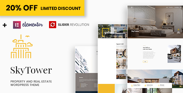 SkyTower - Real Estate and Construction WordPress Theme