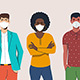 Men and Women Wearing Protection Mask - GraphicRiver Item for Sale