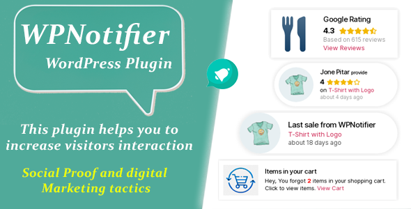WPNotifier - Notification WordPress Marketing Plugin For Visitors Attention and Social Proof