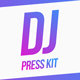 Modern DJ & Producer Press Kit / Resume Template - GraphicRiver Item for Sale