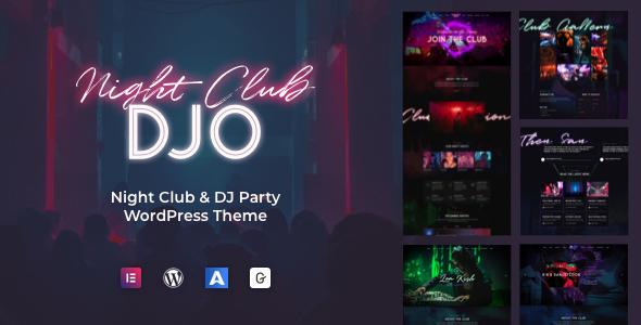 DJO – Night Club and DJ WordPress Preview