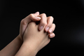 Praying hands is in the dark - PhotoDune Item for Sale