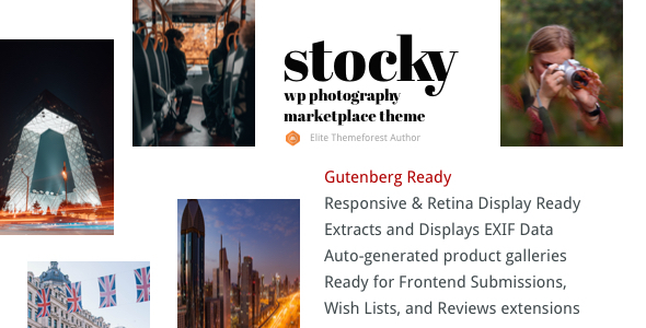 Stocky - A Stock Photography Marketplace Theme Download