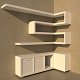 Shelf modern - 3DOcean Item for Sale