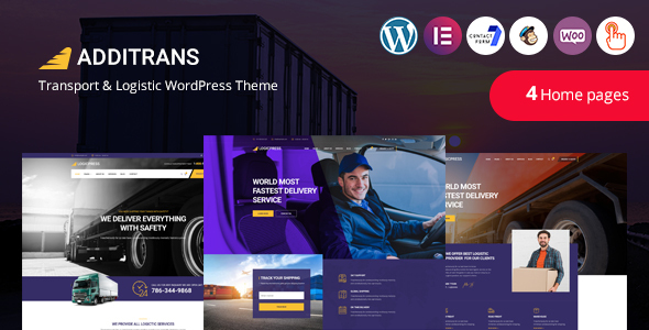 Additrans – Transport and Logistics WordPress Theme Preview