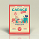 Garage Sale Orange Flyers Template - GraphicRiver Item for Sale