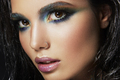 Beautyful girl with blue glitter on her face - PhotoDune Item for Sale