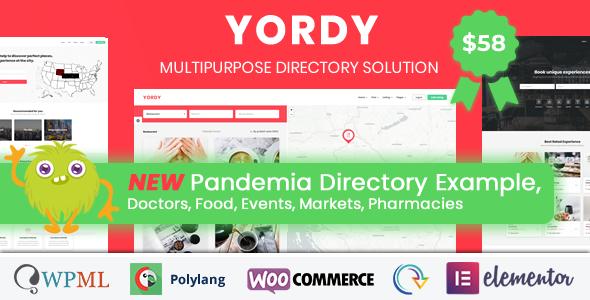 Yordy - Directory Listings WordPress Theme