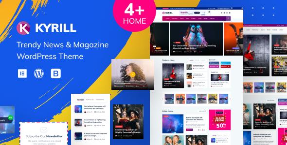 Kyrill – News Magazine WordPress Theme Preview