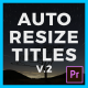 Auto Resize Titles (& Lower Thirds) II - VideoHive Item for Sale