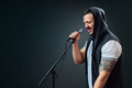 Male vocalist or singer wearing a hoodie - PhotoDune Item for Sale