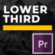 Minimal Mogrt Lower Thirds - VideoHive Item for Sale