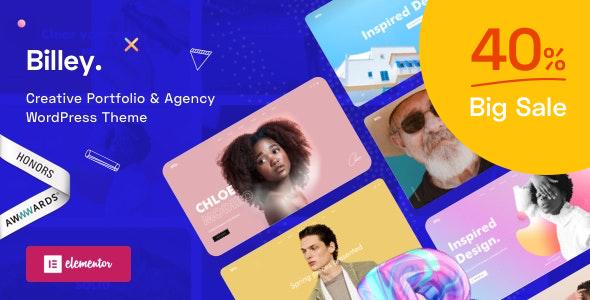 Billey – Creative Portfolio & Agency WordPress Theme Preview