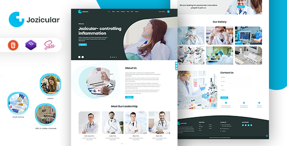 Jozicular - Bio Science HTML Template