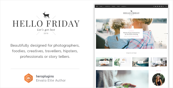 Hello Friday - Elegant Lifestyle Blog Theme