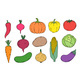 Hand Drawn Vegetables Icons - GraphicRiver Item for Sale