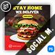 Fast Food Burger Social Media Templates - GraphicRiver Item for Sale