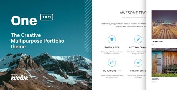 One - The Creative Multipurpose Portfolio theme Download