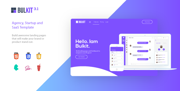 Bulkit - Saas Landing Pages