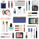Vector Makeup Cosmetics with Blue Cosmetic Bag - GraphicRiver Item for Sale
