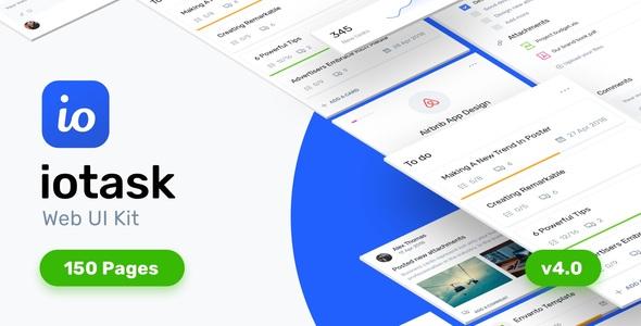 IOTask - Zestaw interfejsu zarządzania projektami
