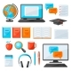 Set of Online Studying at Home Items. - GraphicRiver Item for Sale
