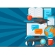 Background with Online Studying at Home Items - GraphicRiver Item for Sale
