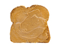 Slice of bread with peanut butter isolated - PhotoDune Item for Sale