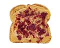 Slice of bread with peanut butter and jam isolated - PhotoDune Item for Sale