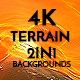 4K Misty Terrain Lava Pack 2In1 Backgrounds - VideoHive Item for Sale