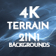 4K Misty Terrain Moon Surface 2in1 Backgrounds - VideoHive Item for Sale