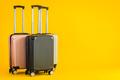Pink Gray Black color luggage or baggage bag use for transportation travel - PhotoDune Item for Sale