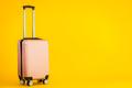 Pink color luggage or baggage bag use for transportation travel - PhotoDune Item for Sale