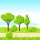 Spring or Summer Background with Stylized Trees. - GraphicRiver Item for Sale
