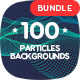 100 Different Particles Backgrounds Bundle - GraphicRiver Item for Sale