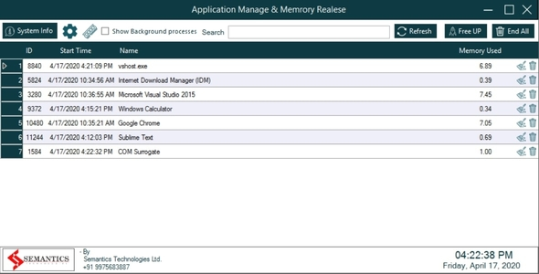 Memory Cleaner Software   Full Source Code Download