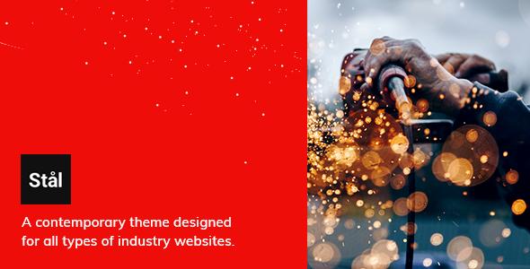 Stål – Industry WordPress Theme Preview