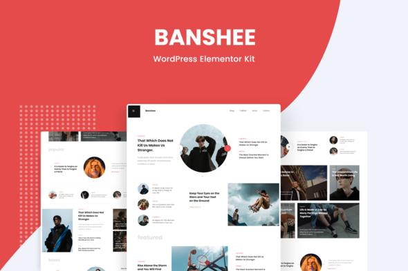 Banshee - News & Magazine WordPress Elementor Template Kit