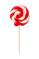 Sweet red lollipop isolated on white - PhotoDune Item for Sale
