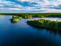 Aerial view of blue lakes and green forests on a sunny summer day in Finland. - PhotoDune Item for Sale