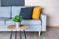 Beautiful living room interior with sofa and colorful pillows - PhotoDune Item for Sale