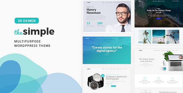The Simple - Business WordPress Theme Download