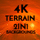 4K Misty Terrain Mars Surface Pack 2In1 Backgrounds - VideoHive Item for Sale