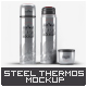 Steel Thermos Bottle Mock-Up - GraphicRiver Item for Sale